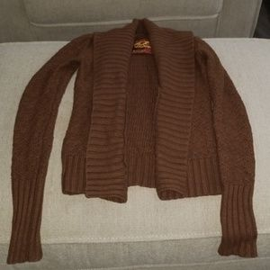 Medium brown cardigan